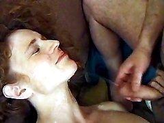 Milf enjoys two dicks n hot cumjet