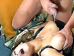 Mature get drilling n cum on breast