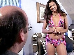 Sexy ebony model Julian is determined to get to the top and here she made use of her sultry ebony features to lure this horny film producer to give her a good break. She started off by coming in weari