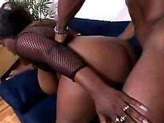 Hottie black mom model filmed in porn videos