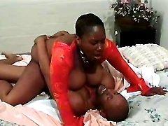 Hot black mature in sex action