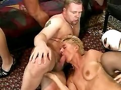 Mature whores in gangbang