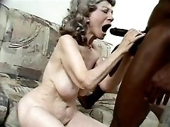 Granny takes care of big black dick