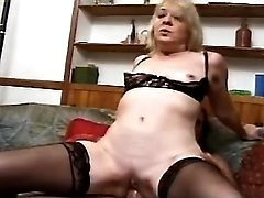 Granny licked and sucks hard cock