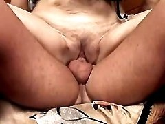 Horny milf jumps on cock