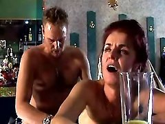 Man fucks depraved mature in bar