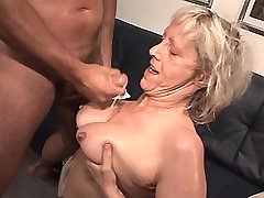 Granny fucks in diff poses n gets cumshot on tits