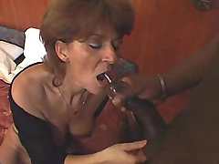 Elder mom fucks n gets facial from big black cock