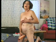 Lusty grandma pining after hard dick