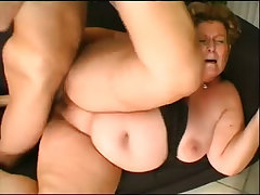 Patty a horny housewife gets a cock inserted in her old ass