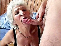 Erin is one hot grandma who's usually mistaken for a frail, old lady. What people don't know though is that she's one horny cock sucker who loves to stuff her mouth full of dick. Here, she eagerly lap