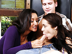 Mother Teaching Daughter How To Suck Cock 04