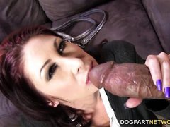 busty cougar tiffany mynx handles two bbc