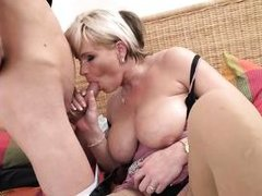 blonde mature with juicy tits